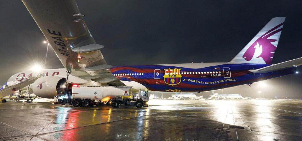 Qatar y el FC Barcelona comparten avión