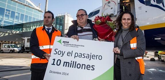 El aeropuerto de Alicante-Elche registró 10 millones de pasajeros en 2014