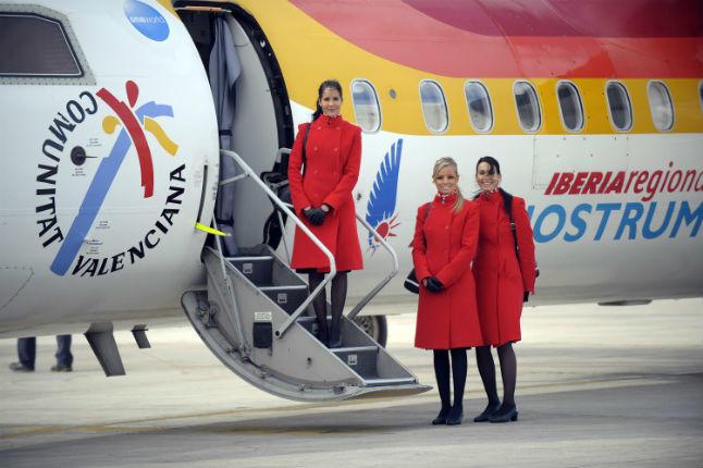 Nuestros alumnos, en las Jornadas de Puertas Abiertas de Air Nostrum en Alicante