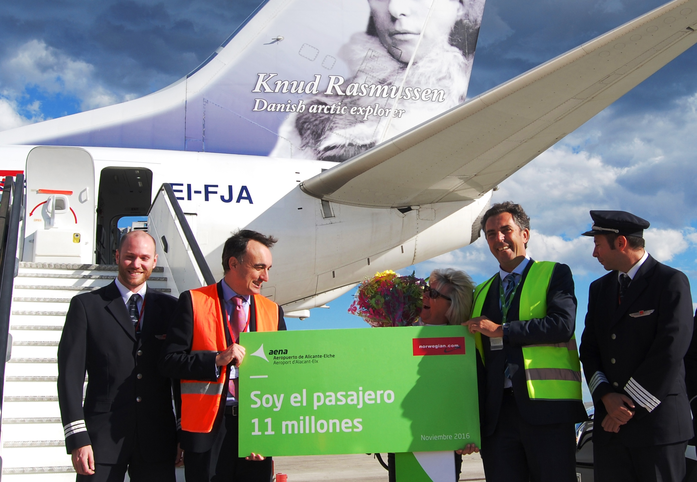 Récord en el aeropuerto de Alicante: ¡Recibimiento a la pasajera 11 millones en noviembre de 2016!