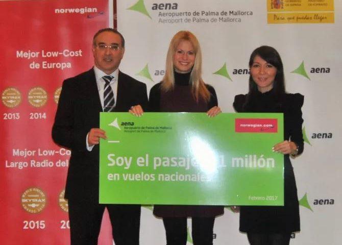 ¡Norwegian logra un millón de pasajeros en tan solo un año en España!