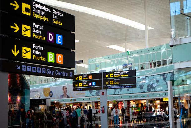 El aeropuerto de Barcelona aumentó en un8% el número de visitantes durante julio de 2017