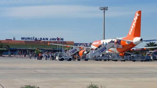 El aeropuerto de Murcia llega a los 90000 pasajeros este 2018