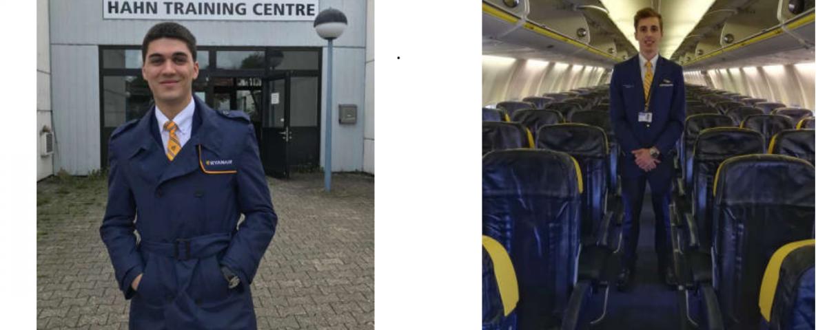 Enhorabuena a Adrián y Manuel, alumnos del curso TCP en Almería, por conseguir su primer empleo como auxiliar de vuelo en Ryanair