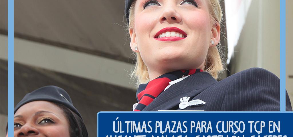 Últimas plazas para un nuevo curso TCP en Alicante, Málaga, Castellón, Cáceres, Jerez, Valencia, Bilbao, Barcelona, Zaragoza, Mallorca y Almería. ¿Vas a dejar volar esta oportunidad en 2020?