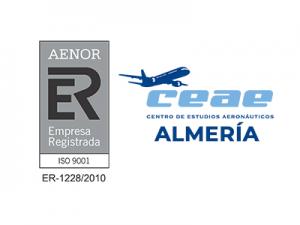 El Centro de Estudios Aeronáuticos CEAE de Almería renueva su certificado AENOR