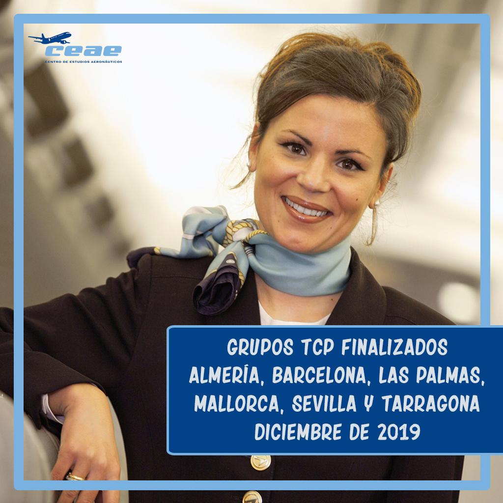 Las promociones 74T y 75M de Alicante, 3T de Castellón, 112T de Málaga, 27M de Murcia y 139M de Valencia acabaron su formación TCP en noviembre de 2019