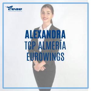 Enhorabuena a Alexandra, alumna TCP de Almería, por conseguir un puesto de trabajo como auxiliar de vuelo en Eurowings
