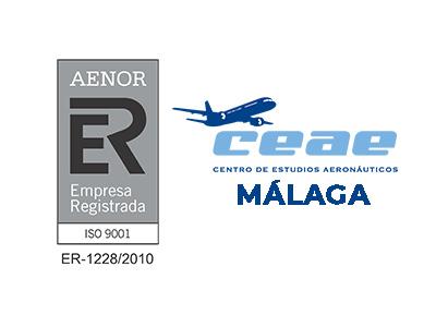 El Centro de Estudios Aeronáuticos CEAE de Málaga renueva su certificado AENOR