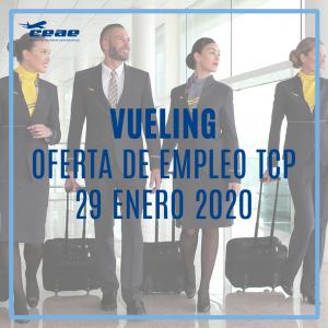 Empleo TCP: Vueling recluta en Málaga auxiliares de vuelo el próximo 29 de enero de 2020