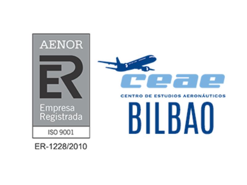 El Centro de Estudios Aeronáuticos CEAE de Bilbao renueva su certificado AENOR