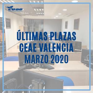Últimas plazas para un nuevo curso TCP en CEAE Valencia durante el segundo trimestre de 2020. ¡No dejes volar esta oportunidad!