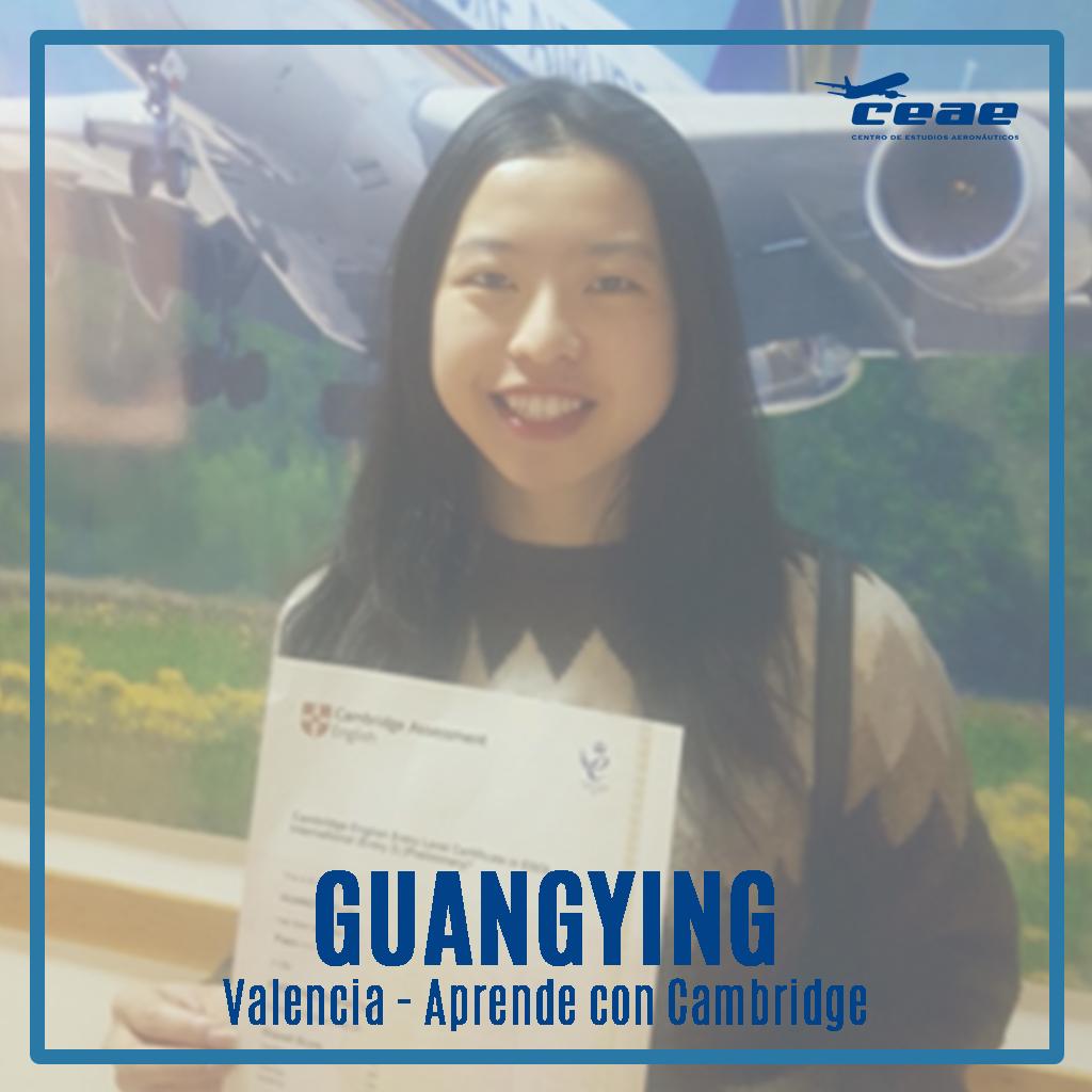 Entrevista a Guangying, alumna de Aprende Con Cambridge en Valencia, tras obtener su título oficial de inglés Cambridge English B1 en febrero de 2020. ¡Enhorabuena!