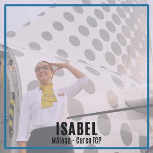 Entrevista a Isabel, alumna de la promoción 190M de Málaga y trabajando actualmente en Vueling como auxiliar de vuelo TCP