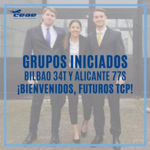 Nuevos cursos TCP en Bilbao y Alicante. ¡Damos la bienvenida a las promociones 34T y 77S!