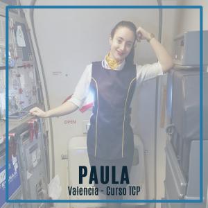 Entrevista a Paula, alumna de la promoción 138T de Valencia y trabajando actualmente en Ryanair como auxiliar de vuelo TCP