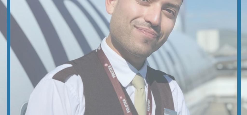 Entrevista a Steven, alumno de la promoción 66T de Alicante y trabajando actualmente en Volotea como auxiliar de vuelo TCP