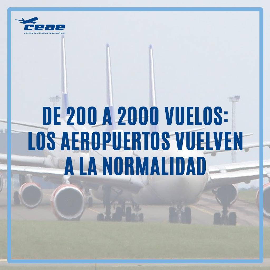 Los aeropuertos recuperan su normalidad: de 200 a 2.000 vuelos al día en verano de 2020