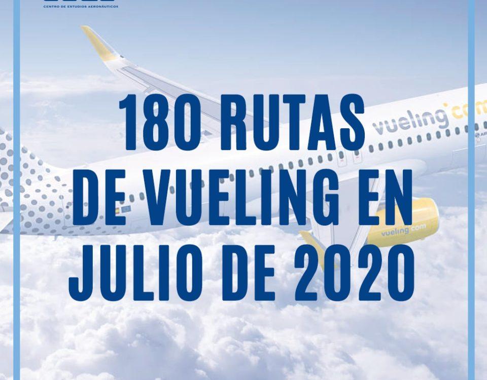 Vueling relanza progresivamente su actividad, poniendo a la venta 180 rutas