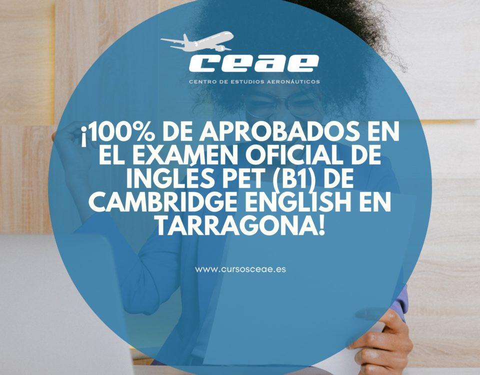 ¡100% de aprobados en el examen oficial de inglés PET (B1) de Cambridge English en Tarragona!