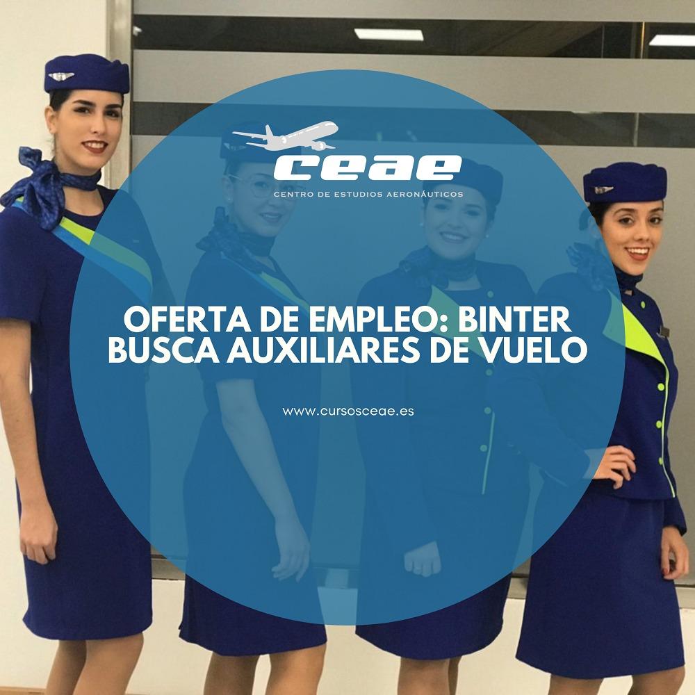 Oferta de empleo TCP: Binter busca auxiliares de vuelo en su página web