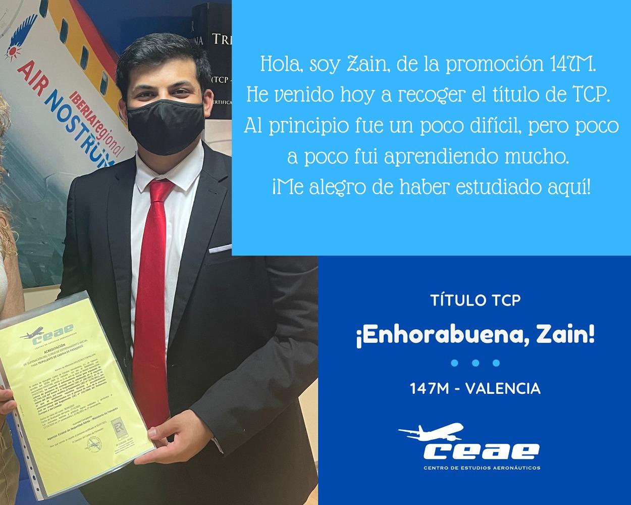 Testimonio de Zain, alumno de la promoción 147M de Valencia